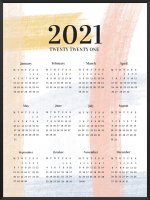 PROJECT NORD | 2021 YEARLY CALENDAR BRUSHSTROKES | A2 カレンダー/ポスター【北欧 シンプル インテリア】の商品画像