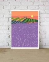 ANEK | Lavender Fields Poster | アートプリント/ポスター (50x70cm)【北欧 カフェ レストラン インテリア おしゃれ】の商品画像