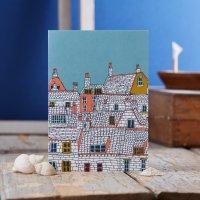 JESSICA HOGARTH   ROOFTOPS ILLUSTRATION GREETING CARD   グリーティングカード【イギリス ロンドン カラフル アート】の商品画像