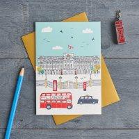 JESSICA HOGARTH   BUCKINGHAM PALACE GREETING CARD   グリーティングカード【イギリス ロンドン カラフル アート】の商品画像
