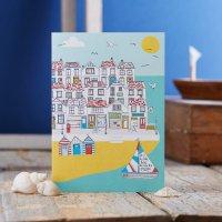 JESSICA HOGARTH   SUMMER BY THE SEA GREETING CARD   グリーティングカード【イギリス カラフル ビーチ】の商品画像