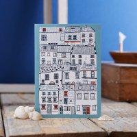 JESSICA HOGARTH   HOUSES ILLUSTRATION GREETING CARD   グリーティングカード【イギリス ロンドン カラフル アート】の商品画像