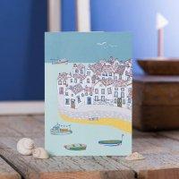 JESSICA HOGARTH   COASTAL VILLAGE GREETING CARD   グリーティングカード【イギリス カラフル ビーチ】の商品画像