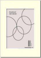 BICOSYA | マウントボード Mountboard (white)【マット台紙 A4ポスターをA3フレームに】の商品画像