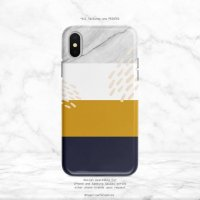 【ネコポス送料無料】SUGARLOAF GRAPHICS | NAVY YELLOW WHITE MARBLE | iPhone 12 miniケースの商品画像