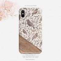 【ネコポス送料無料】SUGARLOAF GRAPHICS | BIRD LEAF FLORAL FOLK | iPhone 12ケース【スマホケース アイフォン シンプル 北欧】の商品画像