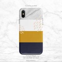 【ネコポス送料無料】SUGARLOAF GRAPHICS | NAVY YELLOW WHITE MARBLE | iPhone 12ケースの商品画像