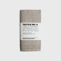 KARIN CARLANDER | TEXTILE NO.9 TABLE NAPKIN (YINYANG - WHEAT/BLACK)  | 50x25cm【北欧 テーブルナプキン ふきん】の商品画像