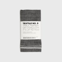 KARIN CARLANDER | TEXTILE NO.9 TABLE NAPKIN (SASHIKO - BLACK)  | 50x25cm【北欧 テーブルナプキン ふきん】の商品画像