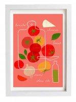 ANEK | Tomato Salad Recipe Poster | アートプリント/ポスター (50x70cm)【北欧 カフェ レストラン インテリア おしゃれ】の商品画像