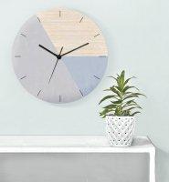 GALIA STUDIO | Geometric Wall Clock (blue grey/grey)【壁掛け時計 北欧 ノルディック モダン インテリア】の商品画像