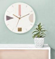 GALIA STUDIO | Geometric Wall Clock (terrazzo pink)【壁掛け時計 北欧 ノルディック モダン インテリア】の商品画像