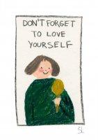 【ネコポス送料無料】BLANCA GOMEZ | DON'T FORGET TO LOVE YOURSELF | A4 アートプリント/ポスターの商品画像