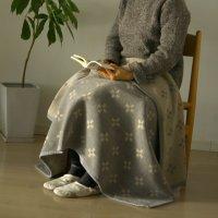 KLIPPAN (クリッパン)   シャーンスンド (グレー)   シュニールコットン ハーフブランケット (90x140cm)【北欧 オーガニック 天然素材 リビング】の商品画像