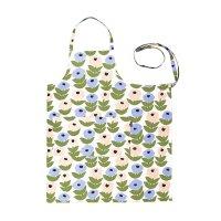 KAUNISTE (カウニステ) | FLORA (ブルー) | エプロン【北欧 テキスタイル 母の日 プレゼント】の商品画像