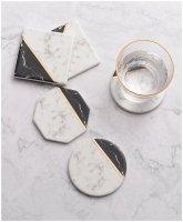 【ネコポス送料無料】FOOKYOU | Marble Patterned Gold Coaster - CERAMIC COASTER | セラミックコースター【北欧 テキスタイル】の商品画像