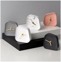 FOOKYOU | Irregular Cement Clock | 置き時計 コンクリートクロック【北欧 おしゃれ オブジェ ミニマル】の商品画像