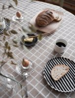 FINE LITTLE DAY | RUTIG JACQUARD WOVEN TABLECLOTH - BROWN (147x250cm) (37112-52) | テーブルクロスの商品画像