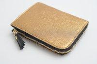 POMTATA (ポンタタ) | HAK L Zip Short Wallet (gold)  | 財布 ショートウォレット【国産 レザー】の商品画像
