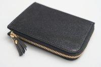 POMTATA (ポンタタ) | HAK L Zip Short Wallet (black)  | 財布 ショートウォレット【国産 レザー】の商品画像