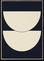 PAPER COLLECTIVE | HALF CIRCLES 1 - BLUE | アートプリント/アートポスター (30x40cm)【北欧 シンプル インテリア おしゃれ】の商品画像