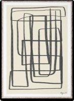 PAPER COLLECTIVE | DIFFERENT WAYS 2 (black) | アートプリント/アートポスター (30x40cm)【北欧 シンプル インテリア おしゃれ】の商品画像