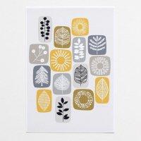 ELOISE RENOUF | Nature Blocks (yellow) | A4 アートプリント/ポスター【ネコポス送料無料 北欧 インテリア ボタニカル アブストラクト】の商品画像
