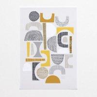 ELOISE RENOUF | All Shapes (yellow) | A3 アートプリント/ポスター【北欧 インテリア ボタニカル アブストラクト】の商品画像