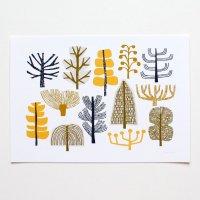 【ネコポス送料無料】ELOISE RENOUF | Summer Trees print | A4 アートプリント/ポスター【北欧 インテリア ボタニカル アブストラクト】の商品画像