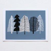 ELOISE RENOUF | Blue Trees | A4 アートプリント/ポスター【ネコポス送料無料 北欧 インテリア ボタニカル アブストラクト】の商品画像