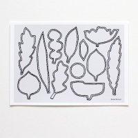 ELOISE RENOUF | Linear Leaves (landscape) | A4 アートプリント/ポスター【北欧 インテリア ボタニカル アブストラクト】の商品画像