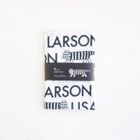 LISA LARSON (リサ・ラーソン) | 捺染てぬぐい(ロゴとマイキー・白)【北欧 雑貨 リサラーソン 手ぬぐい ギフト】の商品画像