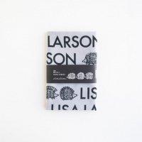 LISA LARSON (リサ・ラーソン) | 捺染てぬぐい(ロゴとハリネズミ・グレー)【北欧 雑貨 リサラーソン 手ぬぐい ギフト】の商品画像