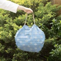 LISA LARSON (リサ・ラーソン) | シュパットM(ハリネズミダンス・ブルー)【北欧 エコバッグ かわいい】の商品画像