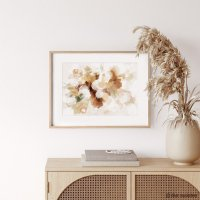 dear musketeer | BOUQUET ABSTRACT BEIGE PRINT | A3 アートプリント/ポスター【北欧 インテリア おしゃれ】の商品画像