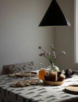 FINE LITTLE DAY | GRAN TABLECLOTH - DARK GREEN/WHITE (147x250cm) (no.75112-52) | テーブルクロス 北欧 リネンの商品画像