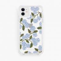 RIFLE PAPER CO. | CLEAR HYDRANGEA BLUE あじさい | iPhone 11/XR【ライフルペーパー スマホケース アイフォン ボタニカル】の商品画像