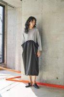sneeuw (スニュウ) | レイヤースカートワンピース (grey) | トップス one size おしゃれの商品画像