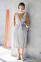 sneeuw (スニュウ) | ラップジャンパースカート (grey) onesize | 送料無料 ワンピース ジャンパースカートの商品画像