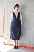 sneeuw (スニュウ) | ラップジャンパースカート (navy) onesize | 送料無料 ワンピース ジャンパースカートの商品画像