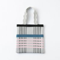 TRICOTE | CHECK KNIT TOTE BAG (light gray) | 送料無料 トートバッグ トリコテの商品画像