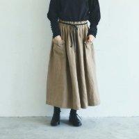MAGALI | ブラッシュド・ベルギーリネン ロングスカート (beige) | ボトムス 送料無料 マガリ シンプル スカートの商品画像