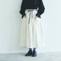 MAGALI | ブラッシュド・ベルギーリネン ロングスカート (white) | ボトムス 送料無料 マガリ シンプル スカートの商品画像