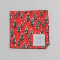 RIFLE PAPER CO. | スノーツリー・レッド (RHC105) | ハンカチクロス ライフルペーパー クリスマス ギフト お出かけの商品画像