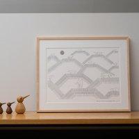 KLIPPAN (クリッパン) | HORSES ON THE HILL 19 (ブラック) | A2ポスター フレーム付き ミナペルホネン 皆川明 minaの商品画像