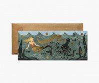 RIFLE PAPER CO.   UNDER THE SEA (G1B004)   ランドスケープカード 誕生日 手紙 ギフトの商品画像
