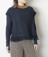 TRICOTE   CABLE VEST (charcoal)   送料無料 トップス ベスト トリコテの商品画像