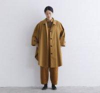 Cion(シオン) | コットンポンチョコート (brown) | 送料無料 アウター シンプル レディースの商品画像