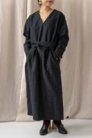 hatsutoki(ハツトキ) | grandma デイドレス (black) | 送料無料 ワンピース ナチュラル 播州織の商品画像