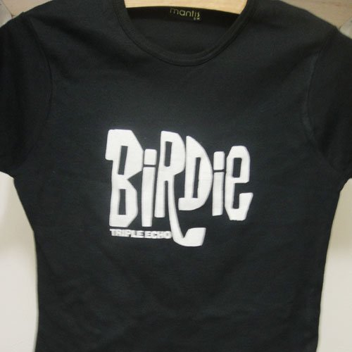 BIRDIE | TRIPLE ECHO | T-SHIRT | レディースS/Mサイズ | 黒